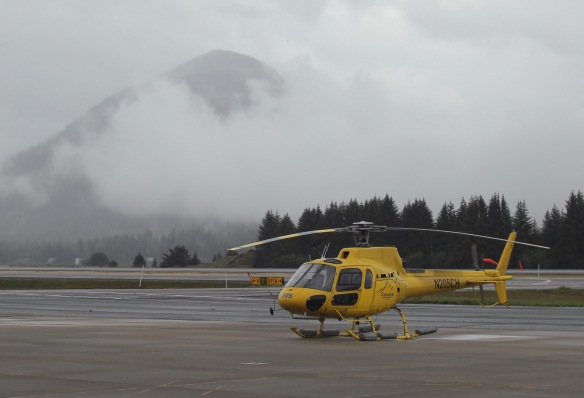 Helicopter in Juneau